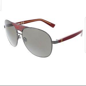 Just Cavalli red striped aviator sunglasses NWT